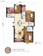 华信悦峰3室2厅3卫141平方米户型图