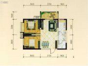 西城国际2室2厅1卫81平方米户型图