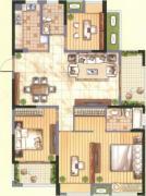 九洲花园缇香郡4室2厅2卫146平方米户型图