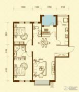 华荣泰时代COSMO2室2厅2卫120平方米户型图