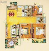 奥体清华苑3室2厅2卫121平方米户型图