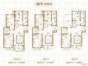 棠悦3室2厅1卫102平方米户型图