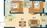 深业世纪新城2室2厅1卫68平方米户型图