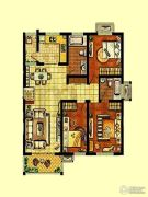 金东城世家3室2厅1卫97平方米户型图