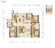 永强朗城公馆5室2厅3卫179平方米户型图