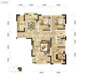 骧龙国际3室2厅2卫134平方米户型图