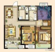 港龙新港城2室2厅1卫98平方米户型图