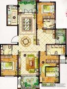 龙湖龙誉城3室2厅3卫170平方米户型图