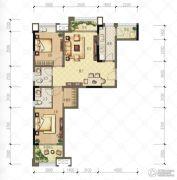 财信沙滨城市2室2厅2卫76平方米户型图
