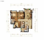佳兆业悦府3室2厅2卫94平方米户型图