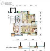 兴庆府大院3室2厅2卫126平方米户型图