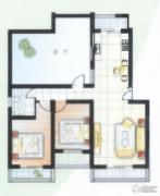 阳光城2室2厅1卫78平方米户型图