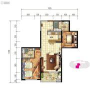 建投・洱海寰球时代2室2厅2卫107平方米户型图