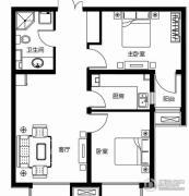 众美凤凰台意风2室1厅1卫0平方米户型图