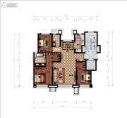 津门熙湖3室2厅2卫130平方米户型图