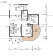 滨海・幸福里2室2厅1卫99平方米户型图