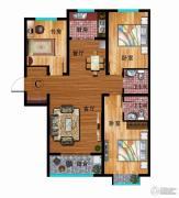 华普城3室2厅2卫119平方米户型图