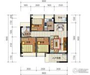 华强城市广场3室2厅1卫90平方米户型图