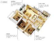 五经・山水大观3室2厅1卫99平方米户型图