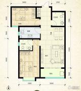 鑫界9号院2室2厅2卫99平方米户型图