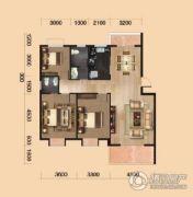 中环坐标城3室2厅2卫119平方米户型图