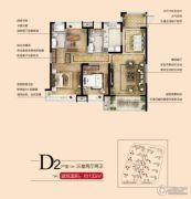 南昌万达城3室2厅2卫133平方米户型图