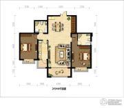 御府山海观2室2厅2卫0平方米户型图