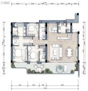 万科17英里4室2厅3卫192平方米户型图