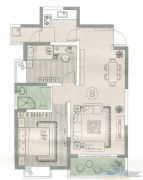 达码格利国际购物中心2室2厅1卫79--89平方米户型图