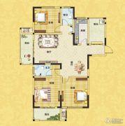 正商红河谷3室2厅2卫143平方米户型图