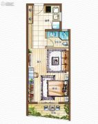 金都・海尚国际1室1厅1卫0平方米户型图