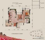 融汇半岛玫瑰公馆2室2厅1卫75--81平方米户型图