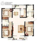 意境兰庭3室2厅2卫143平方米户型图