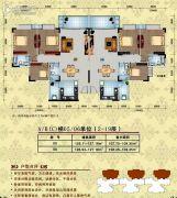 美林宏景新城3室2厅2卫126--127平方米户型图