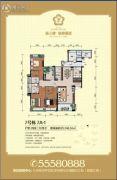 骏景豪廷4室2厅4卫208平方米户型图