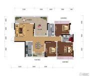 鸿达.金域世家3室2厅2卫132平方米户型图