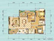 财信沙滨城市3室2厅2卫97平方米户型图