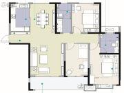 观海路8号3室2厅2卫136平方米户型图