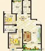 垠地中山城2室2厅1卫100--105平方米户型图