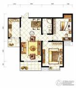 山水泉城2室2厅1卫88平方米户型图