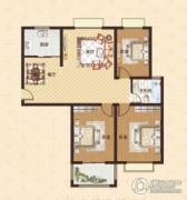 中瓯名城3室2厅1卫121平方米户型图