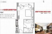 总部・首寓1室1厅1卫0平方米户型图