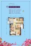 群升江山城3室2厅1卫82平方米户型图