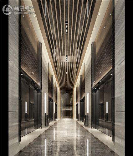 新地东方广场公寓一层电梯厅效果图