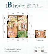 华宇林语岚山2室1厅1卫34平方米户型图