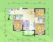 慢哉3室2厅2卫115平方米户型图