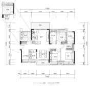 壹城中心4室2厅2卫127平方米户型图