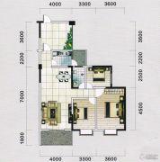 蓝宝湾3室2厅1卫115平方米户型图