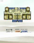 康辉・苏州壹号3室2厅2卫116--122平方米户型图