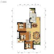 瑞升望江橡树林3室2厅1卫85平方米户型图